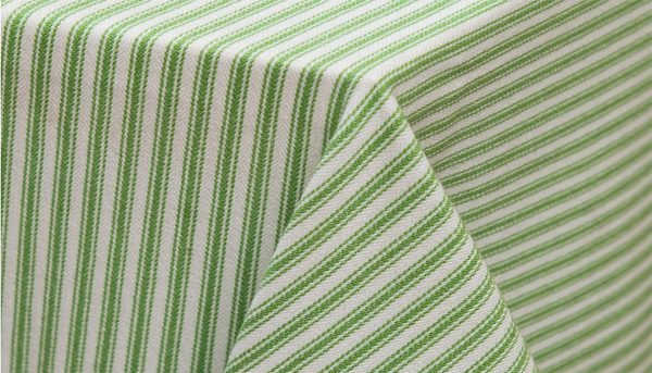 Apple Stripe table linen hire