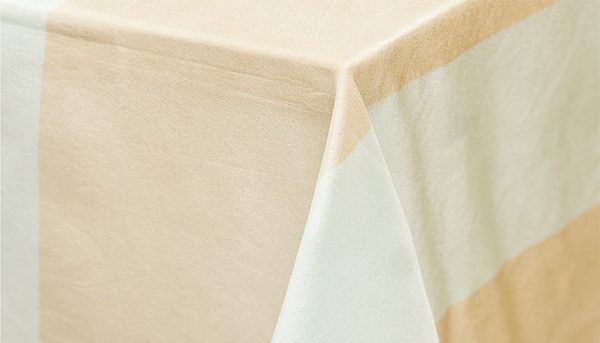Bayside Stripe table linen hire