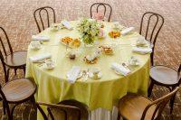 Citrus Stripe table linen hire