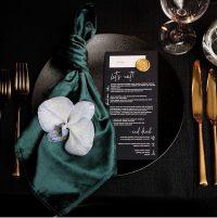 Emerald Velvet napkins