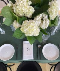 Forest Weave overlays with White Linen Spoke napkins