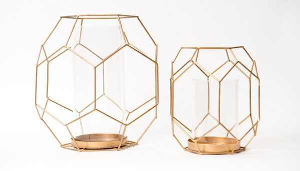 Gold Geometric Lanterns