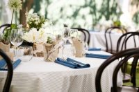 oatmeal taupe table linen hire
