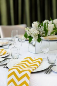 Yellow Table linen hire