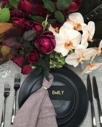 Oatmeal Weave overlays with Blush Weave napkins
