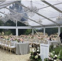 Oatmeal Weave overlays with White Weave napkins