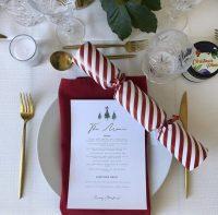 Red Weave napkin