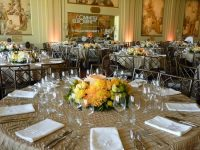 oatmeal and taupe table linen hire