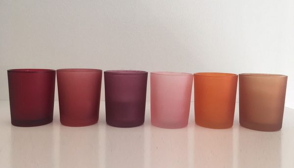 Votives Red Rust Plum Baby Pink Orange Gold