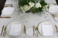 Whisper Weave table linen hire