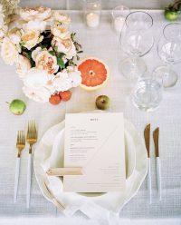 Whisper Weave overlay with White Linen Spoke napkins