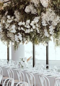 Whisper Weave overlays with White Weave napkins