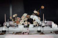 White Chiffon table runner on Whisper Weave overlays with Marshmallow Velvet napkins