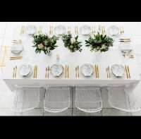 White table linen hire