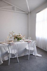 White weave overlays with Marshmallow Velvet napkins