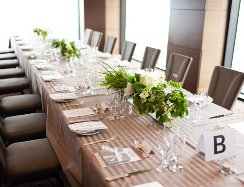 Dress up your boardroom or bring an event to life with custom linen for corporates