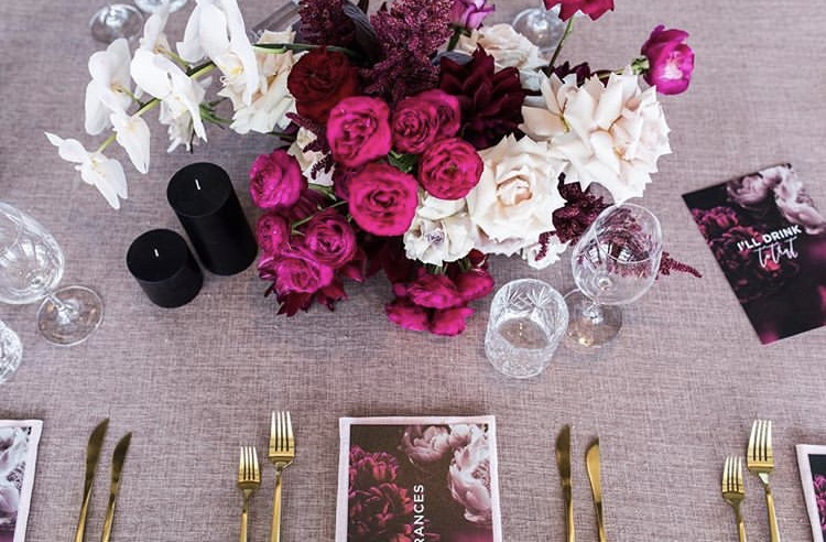 blush table Linen Hire