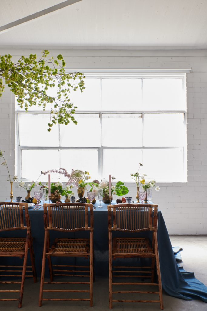 Table linen hire - denim weave