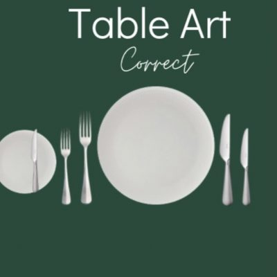 Correct table setting rules