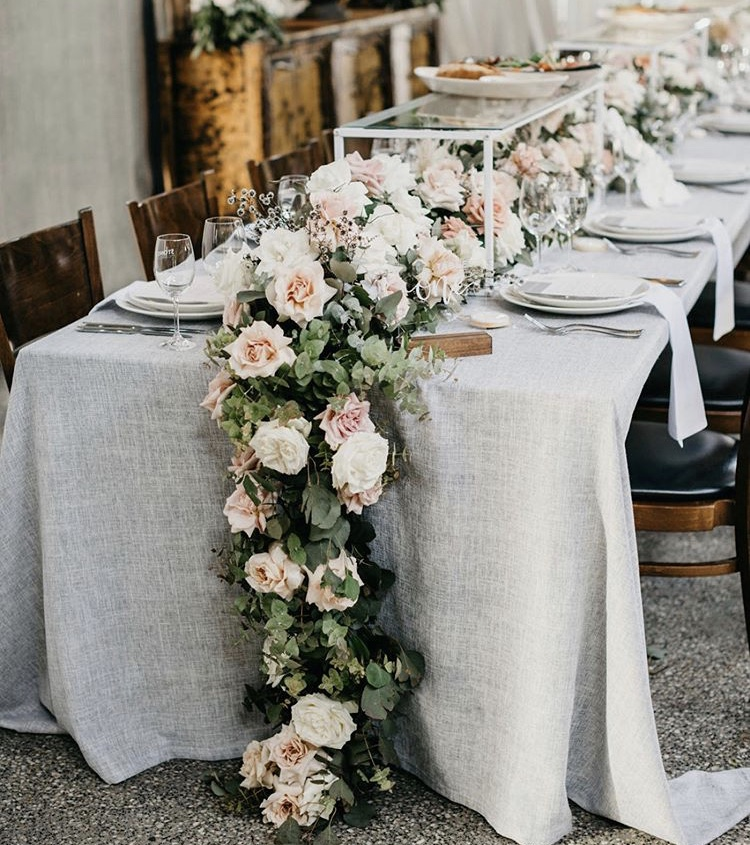 Wedding table linen hire