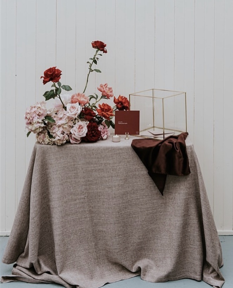 Wedding table linen hire